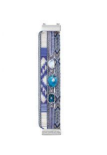 Mauve-blaues Armband mit Perlen, Fäden und Steinen - HIPANEMA WISTERIA