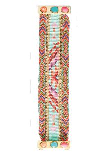 Colourful beaded bracelet, clasp with stones - HIPANEMA PAQUITA
