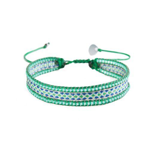 Bracelet CANAL BEIGE BLUE GREEN