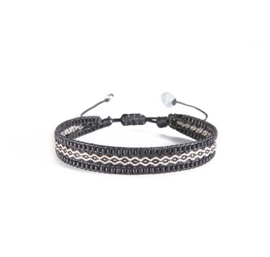 Bracelet CANAL BLACK BEIGE