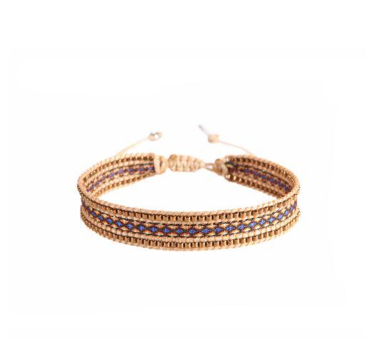 Bracelet CANAL COPPER BLUE