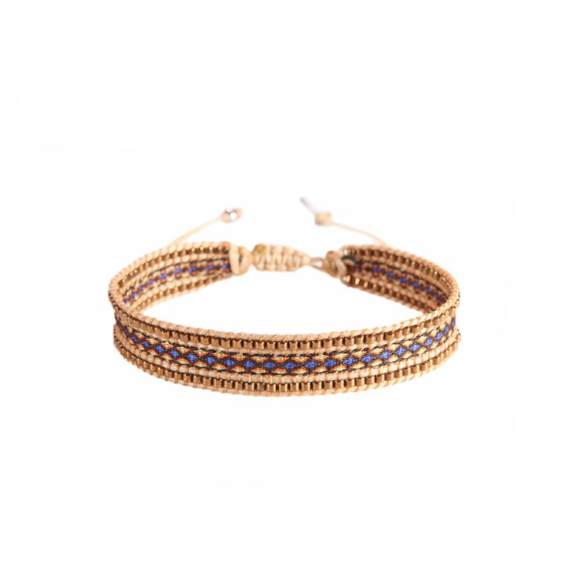 Armband CANAL COPPER BLUE