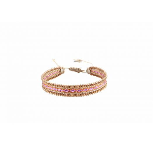 Bracelet CANAL FUCHSIA ORANGE