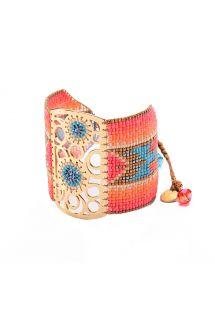 Multicolour bead cuff, dreamcatcher motif - Dream Catcher GP 4109