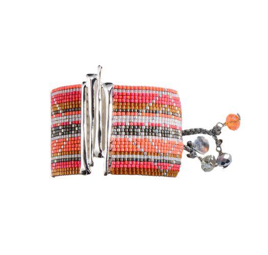 Bracelet GUACA CORAL GREY WHITE