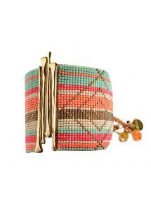 Bracelet GUACA ORANGE BEIGE TURQUOISE