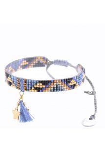 Bracciale con perline, nappina blu e stella - Macui BE 3351