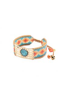Bracelet made from colourful beads with openwork plateν - MISTY GP 4118