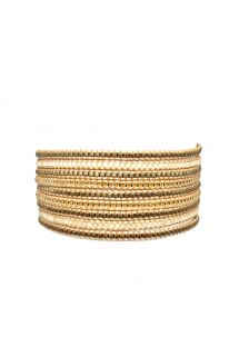 Bracelet multi-rangs de perles bronze/dorées - Multirows BE 911