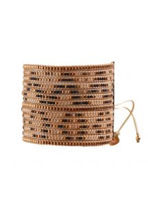 Bracelet MULTIROWS COPPER BROWN BEIGE
