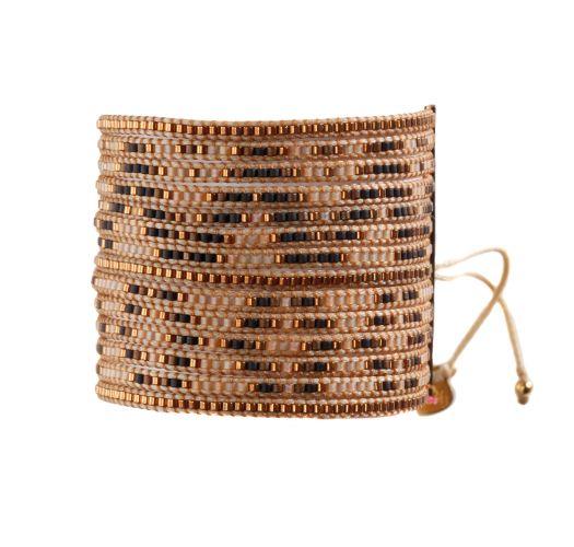 Bracelet MULTIROWS COPPER BROWN BEIGE