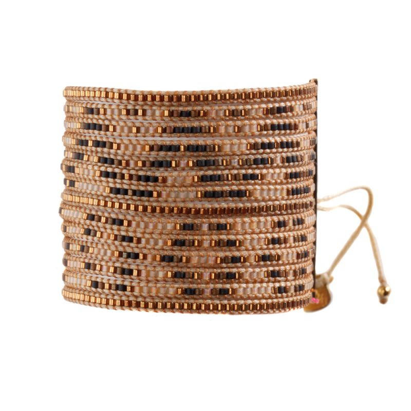 Armband MULTIROWS COPPER BROWN BEIGE