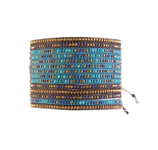 Bracelet MULTIROWS DARK BLUE TURQUOISE AQUA