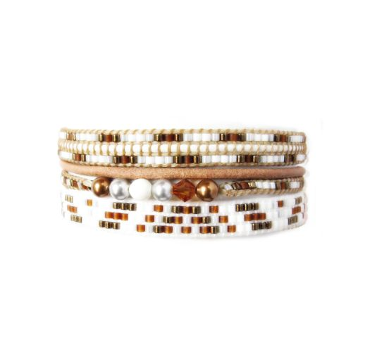 Bracelet POTPOURRI COPPER GREY BROWN