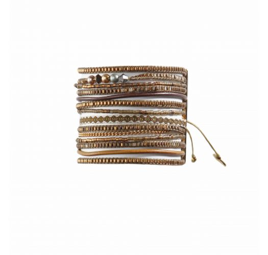 Bracelet POTPOURRI FUSION COPPER BROWN WHITE