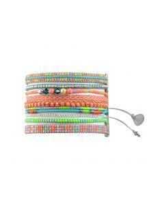 Manchette estivale en perles fluo et chaîne - Potpourri Garden BE 1462 Extra