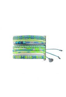 Manchette bleu/vert fluo en perles et chaîne - Potpourri Garden BE 1526 Extra