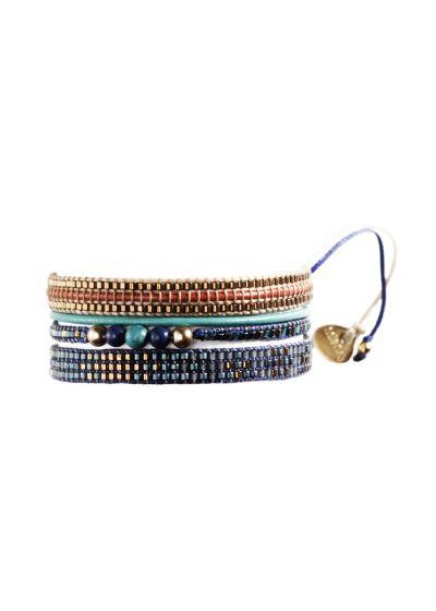 Armband POTPOURRI GOLD BLUE