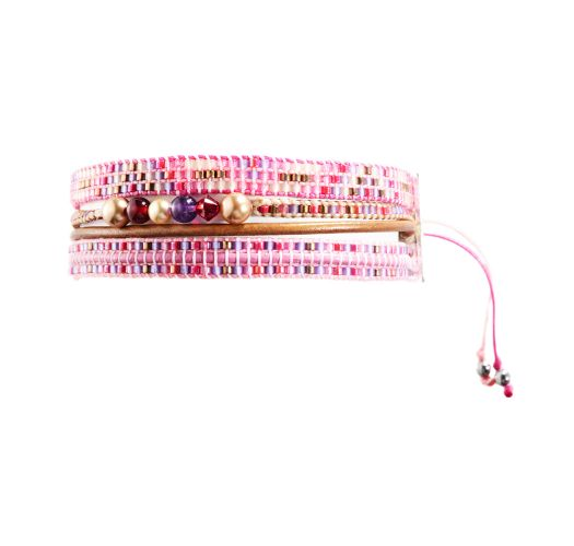 Bracelet POTPOURRI PINK PURPLE