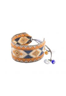 Blue/orange ethnic beaded bracelet - RAYS LE 2891