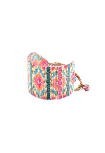 Colourful bead cuff with woven details - YEYI BE 4115L