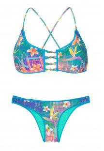 Bikini con flores y parte superior tipo sostén - STRELITZIA