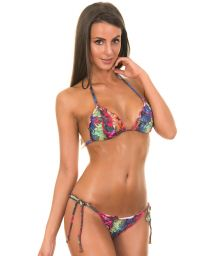 Triangle bikini with parrot print - ARARA LULI