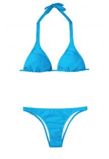 Blå triangel tvådelad bikini - BLUE CORTINAO BASIC