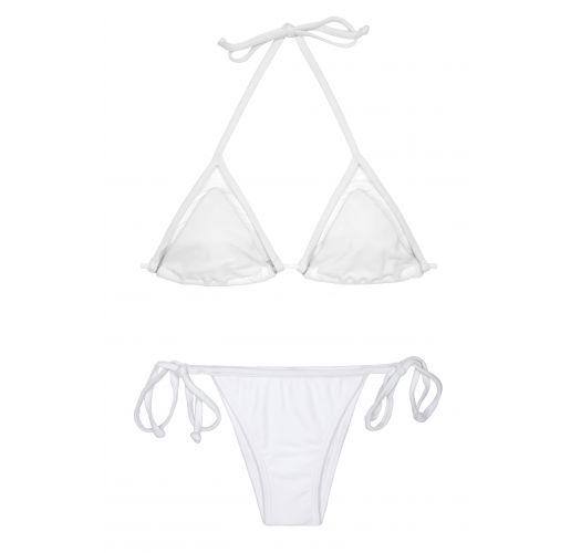 Brazilske bikini kopalke - BRANCO STRAP LACINHO