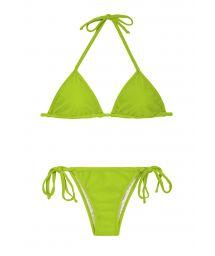 Äppelgrön Brazilian bikini med justerbar triangelformad övredel - JUREIA CORT LACINHO