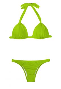 Light green padded triangle bikini - JUREIA FIXO BASIC