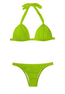 Ljusgrön vadderad triangel bikini - JUREIA FIXO BASIC