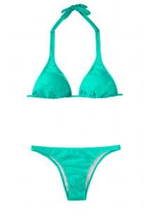 Zeegroene driehoekige bikini, topje met brede bandjes - MARE CORTINAO BASIC