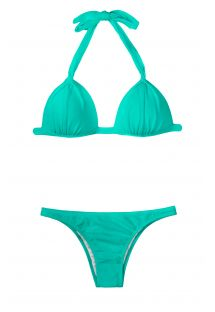 Sea green padded triangle bikini - MARE FIXO BASIC