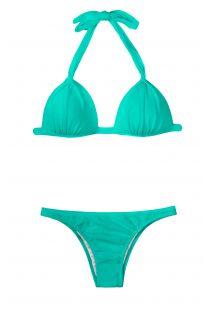 Zeegroene gewatteerde driehoekige bikini - MARE FIXO BASIC