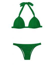 Green padded bikini triangle top - PETERPAN FIXO BASIC