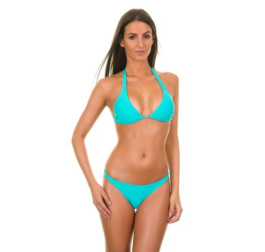 Sky blue push-up triangle swimsuit - SKY CORTINAO BASIC