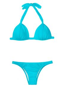 Sky blue padded triangle bikini - SKY FIXO BASIC