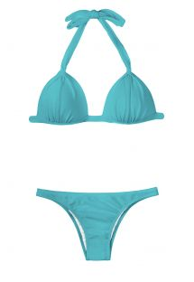 Fato de banho azul com top triangular almofadado - TAHITI FIXO BASIC