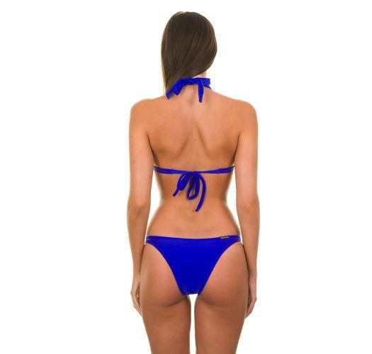 Bikini triangle fixe à coques bleu foncé - ZAFFIRO FIXO BASIC
