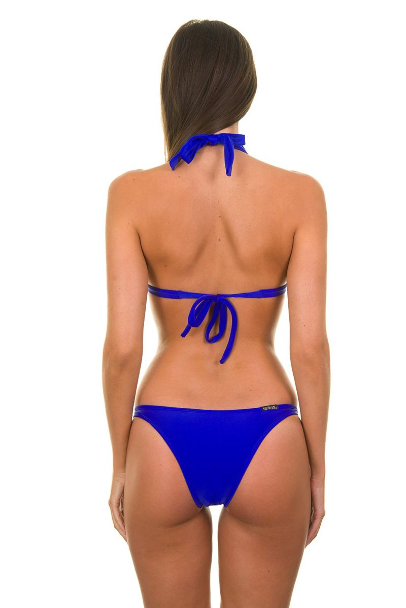 A fixed triangle bikini with dark blue shells - ZAFFIRO FIXO BASIC