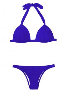 A fixed triangle bikini with dark blue shells - ZAFFIRO FIXO BASIC