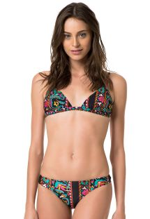 A fixed triangle printed bikini with adjustable shoulder straps - MECCA LUMIERE