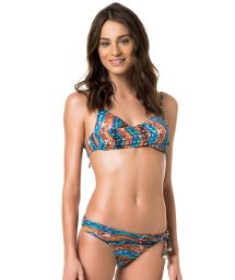 Drape effect bikini with multi-position straps - NAJA AMBRA