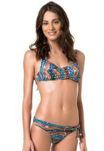 Bikini z efektem drapowania i ramiączkami zapinanymi na kilkasposobów - NAJA AMBRA