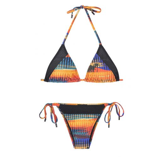 A brazilian sports bikini designed in cooperation with Adidas - ORANGE RIO