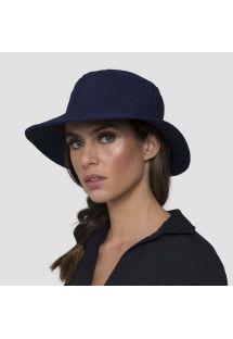 Sombrero de playa elástico azul marino (para cola de caballo) - CALIFORNIA MARINHO UV.LINE