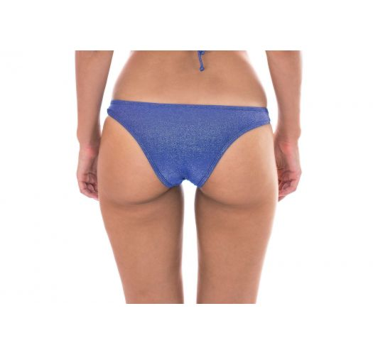 Fixed bathing tanga in dark blue lurex - CALCINHA RADIANTE AZUL MARINHO CROPPED