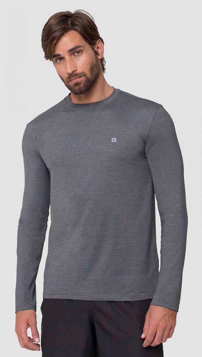 Grey long sleeve for men - UPF50 - CAMISETA UVPRO MESCLA - SOLAR PROTECTION UV.LINE