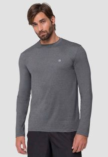 Grey long sleeve for men - UPF50 - CAMISETA UVPRO MESCLA - SOLAR PROTECTION UV.LINE